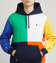 Polo Ralph Lauren  Colorblock Club Fleece Hoodie  Navy - 710835955001-CNV | Jimmy Jazz