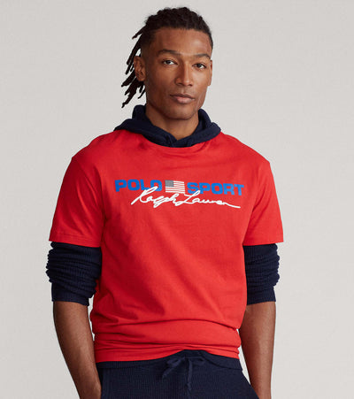 Polo Ralph Lauren  Polo Sport Short Sleeve Tee  Red - 710836758002-RED | Jimmy Jazz