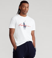Polo Ralph Lauren  Polo Rider M1 Graphic Tee  White - 710839049001-WHT | Jimmy Jazz