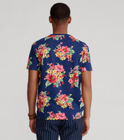 Polo Ralph Lauren  Animated Hibiscus Short Sleeve Tee  Multi - 710839426001-BLU | Jimmy Jazz