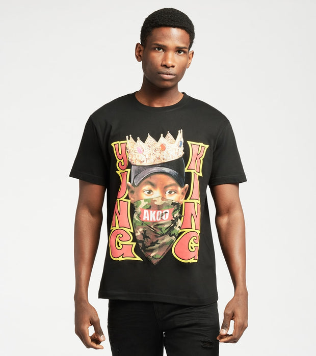 A.K.O.O.  Yung Yung Short Sleeve Tee  Black - 7111202-BLK | Jimmy Jazz