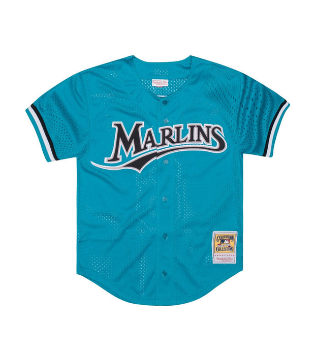 Mitchell And Ness  ANDRE DAWSON MARLINS BASEBALL JERSEY  Blue - 733943295ADAW2-TEA | Aractidf