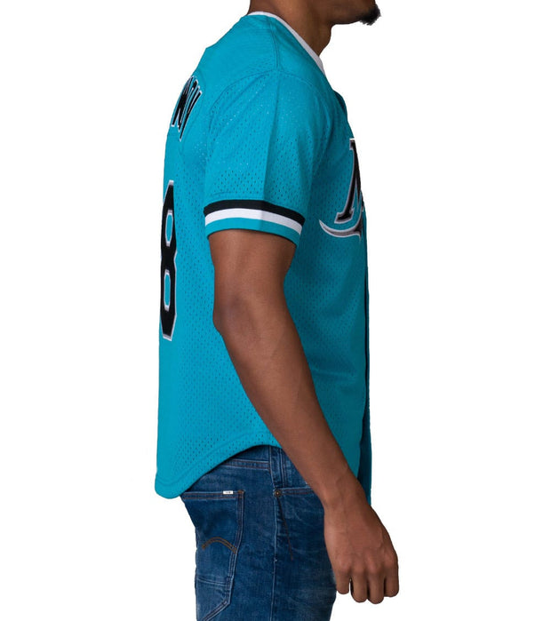 Mitchell And Ness  ANDRE DAWSON MARLINS BASEBALL JERSEY  Blue - 733943295ADAW2-TEA | Jimmy Jazz