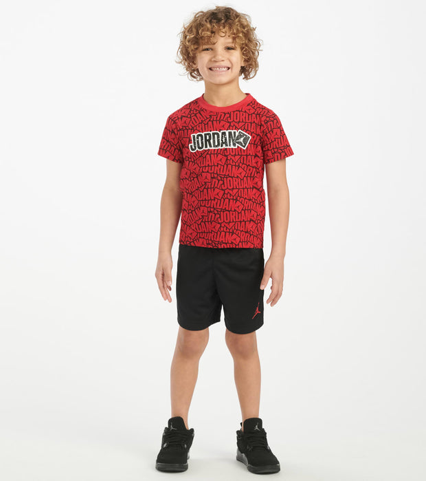 Jordan  2-4T Stickers Tee Mesh Short Set  Black - 756944-KR5 | Jimmy Jazz