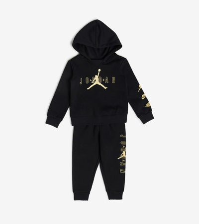Jordan  Boys Fleece Hoodie Jogger 2 Piece Set  Black - 75A379-023 | Jimmy Jazz