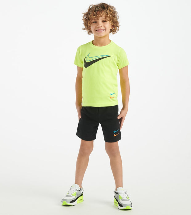 Nike  Toddler Boys Swoosh Short Set  Black - 76G350-023 | Jimmy Jazz