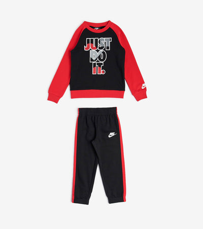 Nike  TD Boys Jdi Fly Fleece Crew Set  Black - 76G985-023 | Jimmy Jazz