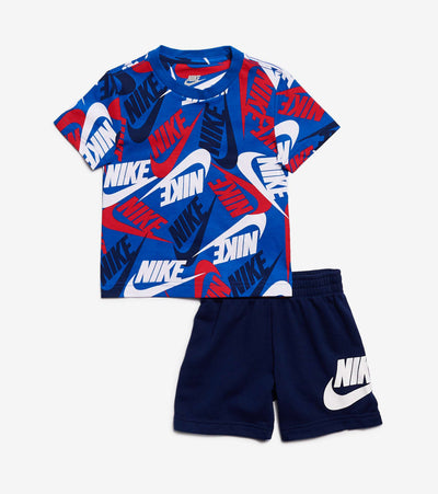 Nike  Boys NSW 2 Piece Short Set  Blue - 76H749-U9J | Jimmy Jazz