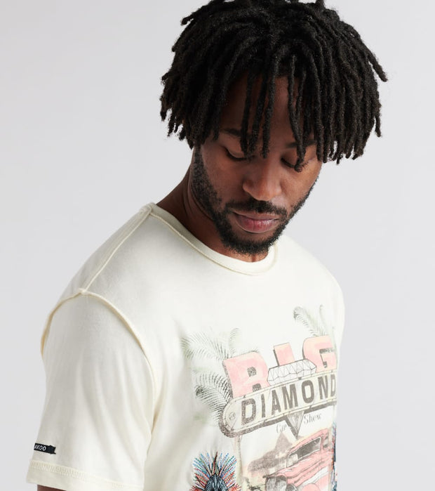 A.K.O.O.  Big Diamond Tee  Beige - 7818300-WWT | Jimmy Jazz