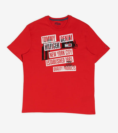 Tommy Hilfiger  Robots Tee  Red - 78D9121-617 | Jimmy Jazz