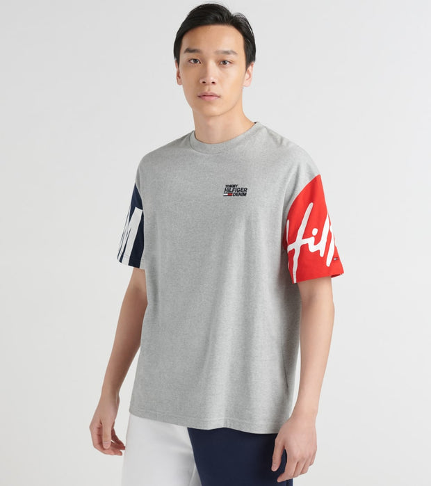 Tommy Hilfiger  Victor Short Sleeve Tee  Grey - 78E2782-004 | Jimmy Jazz