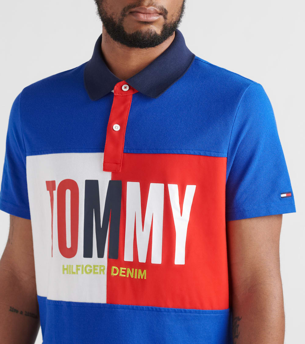 Tommy Hilfiger  Tony Blocked Polo Shirt  Multi - 78E5340-084 | Jimmy Jazz
