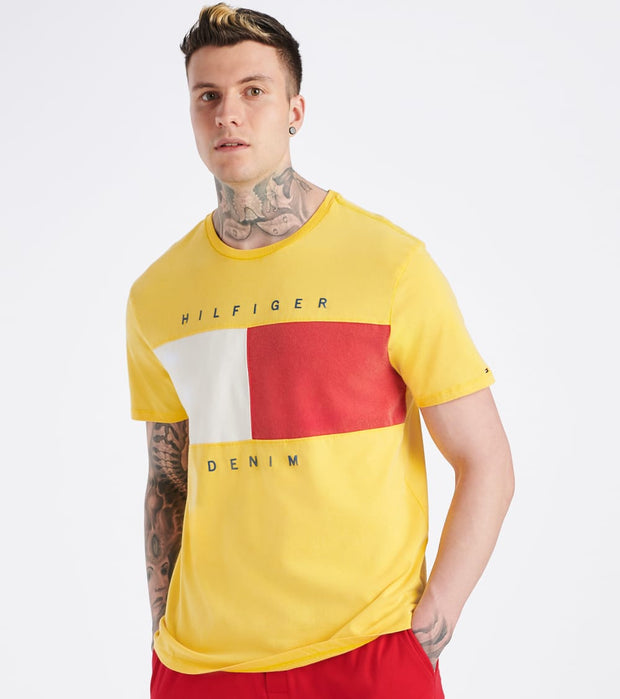Tommy Hilfiger  Beason Tee  Yellow - 78E6150-960 | Jimmy Jazz