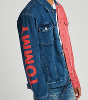 Tommy Hilfiger  Oversized Icon Trucker Jacket  Multi - 78E7033-495 | Jimmy Jazz