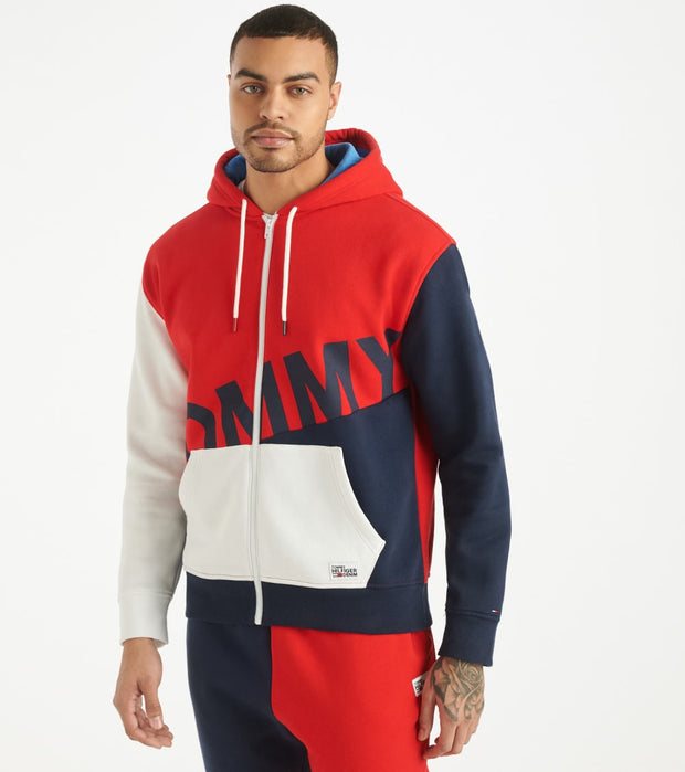 Tommy Hilfiger  Ziggy Full Zip Hoodie  Red - 78E7231-617 | Jimmy Jazz
