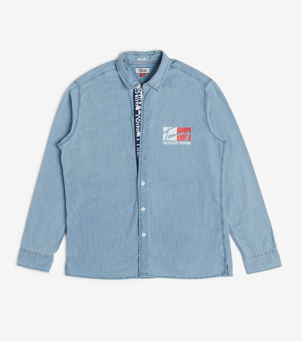 Tommy Hilfiger  Tommy Branded Denim Shirt  Blue - 78E7234-479 | Aractidf