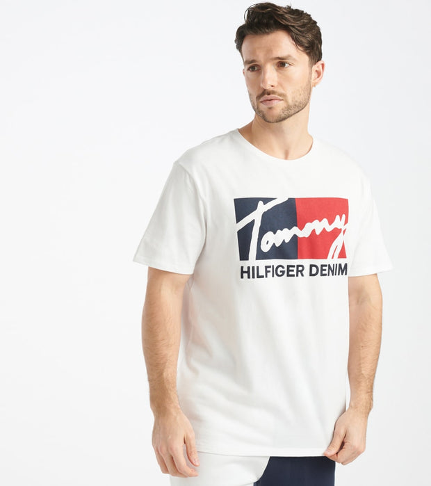Tommy Hilfiger  Brooks Tee  White - 78E7331-112 | Jimmy Jazz