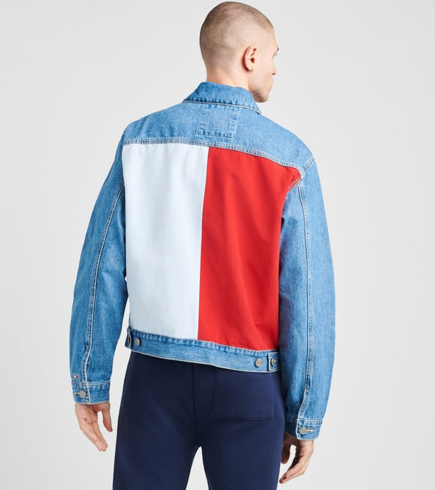 Tommy Hilfiger  Flag Trucker Mason Jacket  Blue - 78J1209-400 | Jimmy Jazz