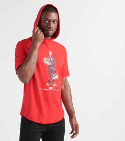 A.K.O.O.  Kid Mascot Short Sleeve Hoodie  Red - 7910274-FRO | Jimmy Jazz