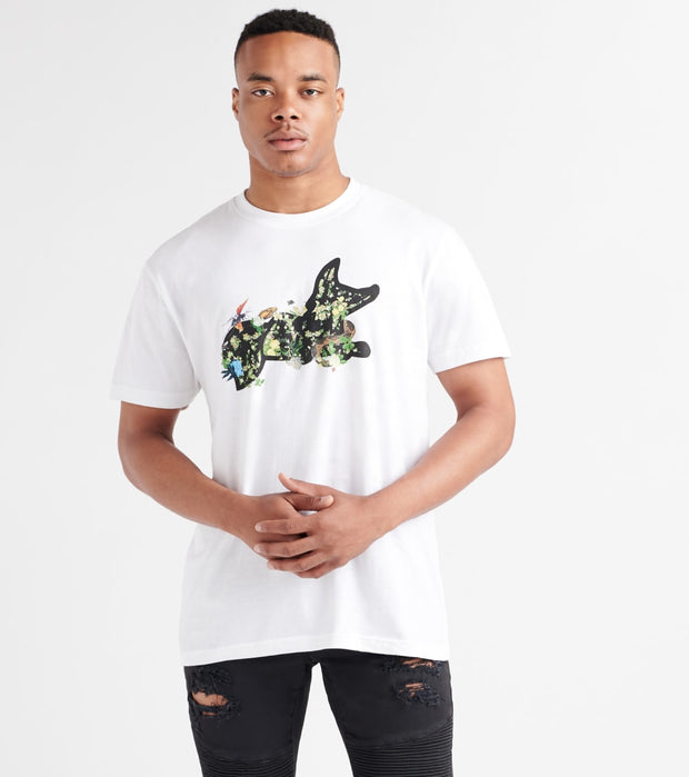 A.K.O.O.  Snobby Bloomed Tee  White - 7914210-WHT | Jimmy Jazz