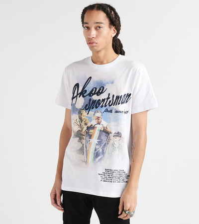 A.K.O.O.  Sportsman Knit Tee  White - 7916310-WHT | Jimmy Jazz