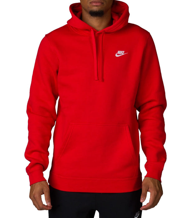 Nike  NIKE CLUB SWOOSH PULLOVER HOOD - NSW  Red - 804346-657 | Jimmy Jazz