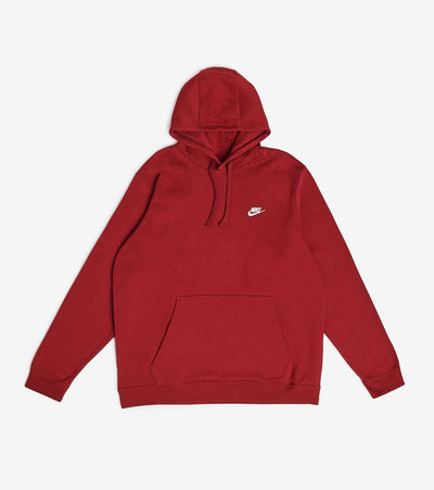 Nike  NSW Club Fleece Pullover Hoodie  Red - 804346-677 | Jimmy Jazz