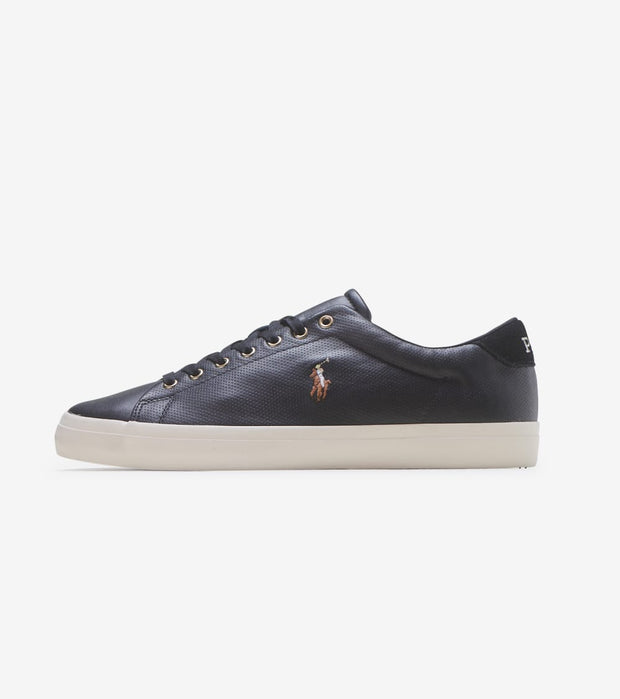 Polo Footwear  Longwood Leather Sneaker  Black - 816785024001 | Jimmy Jazz