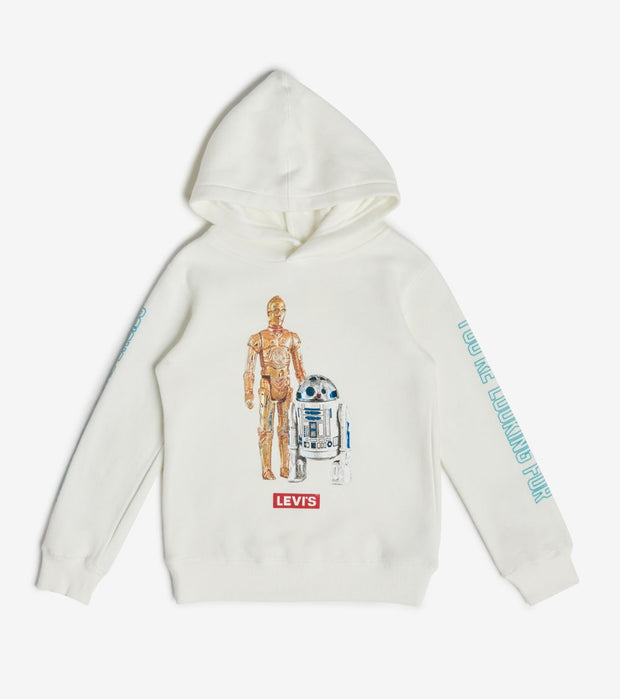 Levis  Boys Star Wars Levis Pullover Hoodie  White - 81B462-001 | Jimmy Jazz