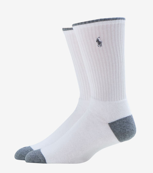 Polo  Ribbed Cushioned Crew Socks 3 Pack  White - 821004PK-150 | Jimmy Jazz