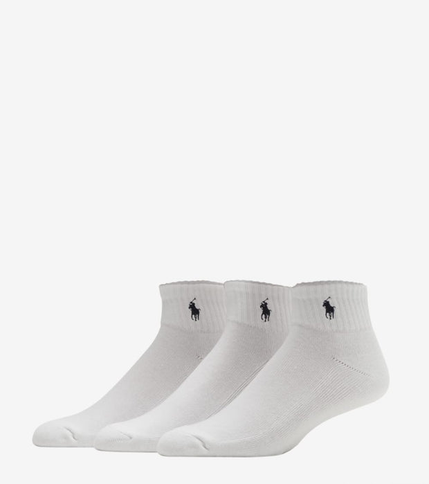 Polo  6 Pack Quarter Socks  White - 824000PK2-100 | Jimmy Jazz