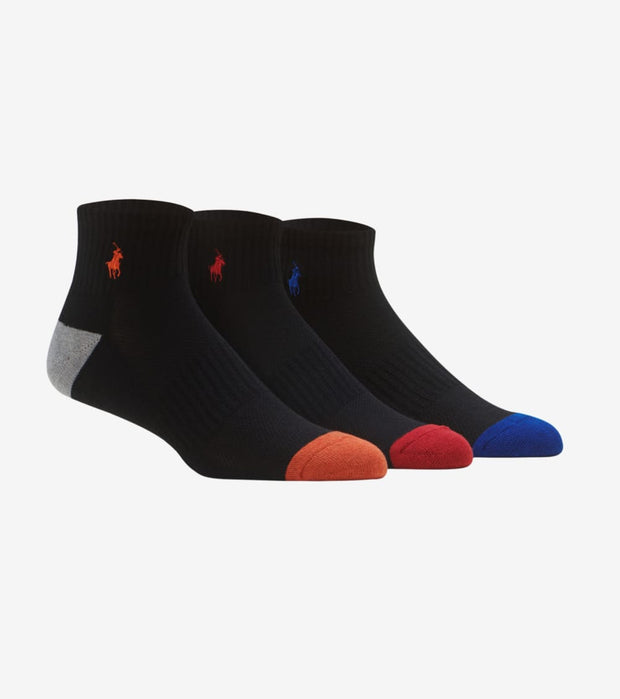 Polo  6 Pack Quarter Sock  Black - 824006PK4-019 | Jimmy Jazz