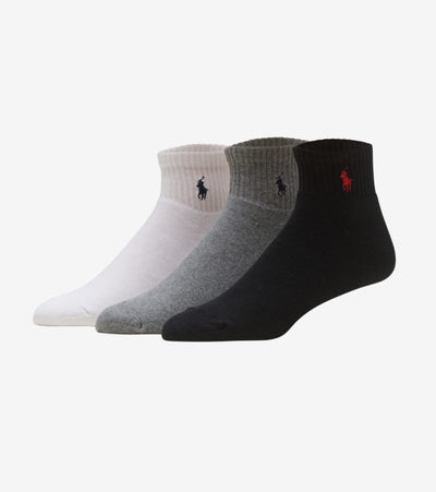 Polo  3 Pack Classic Quarter Sock  Multi - 824032PK-991 | Jimmy Jazz