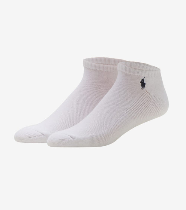 Polo  6 Pack Rib Cuff Ped Socks  White - 827001PK2-100 | Jimmy Jazz