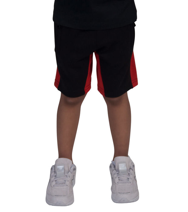 Jordan Craig Kids  Boys 2-7 Side Stripe Fleece Short  Black - 8291SK-CRM | Jimmy Jazz