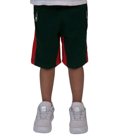 Jordan Craig Kids  Boys 2-7 Side Stripe Fleece Short  Green - 8291SK-GRR | Jimmy Jazz