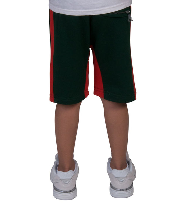 Jordan Craig Kids  Boys Side Stripe Fleece Shorts  Green - 8291SK-GRR | Aractidf