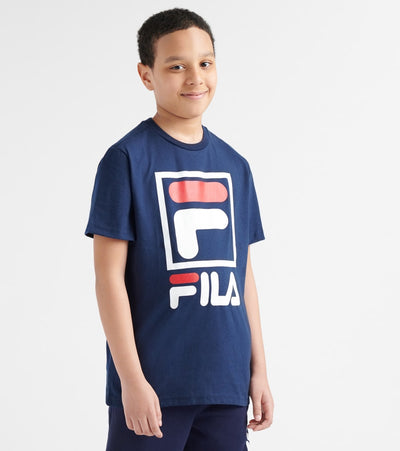 Fila  Stacked Logo Tee  Navy - 82F239-NVY | Jimmy Jazz
