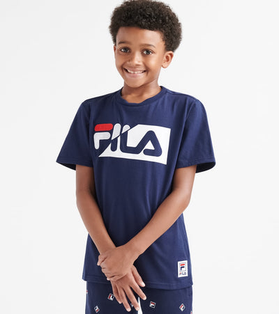 Fila  Boys 8-20 Fila Logo Twist Tee  Navy - 82F339-NVY | Jimmy Jazz
