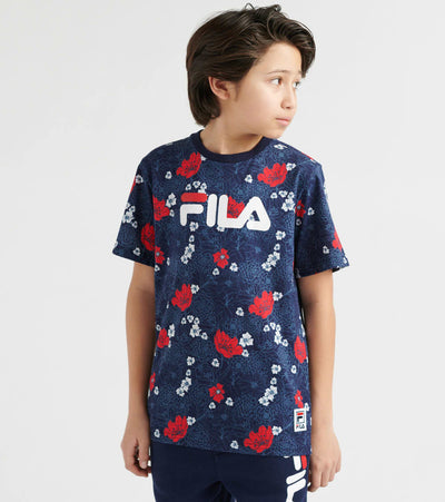 Fila  Floral Print Tee  Navy - 82F364-RED | Jimmy Jazz