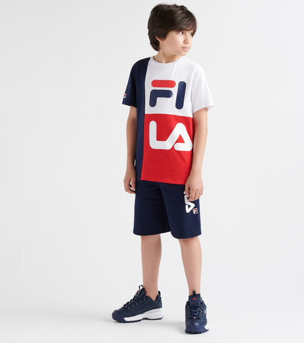 Fila  Stacked Colorblock Tee  Multi - 82F368-RED | Jimmy Jazz