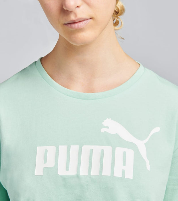 Puma  Ess Cropped Logo Tee  Green - 85259484-300 | Jimmy Jazz