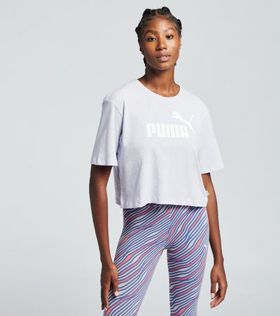 Puma  Cropped Logo Tee  Purple - 85259490-500 | Jimmy Jazz