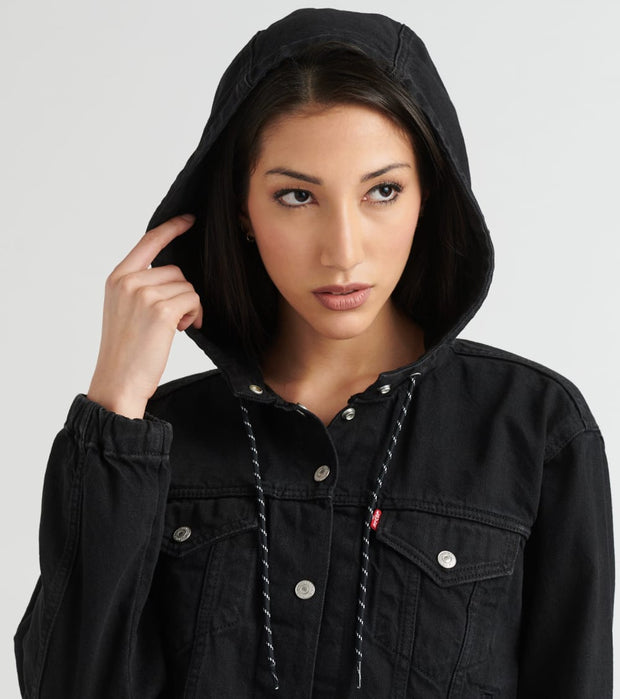 Levis  Anorak Trucker Jacket  Black - 85679-0000 | Jimmy Jazz