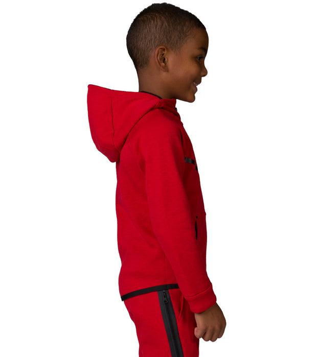 Nike  Boys Tech Fleece Full Zip Hoodie  Red - 86B202-R1U | Jimmy Jazz