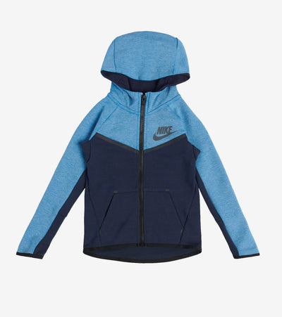 Nike  Boys Tech Fleece Full Zip Hoodie  Blue - 86C335-U7D | Jimmy Jazz