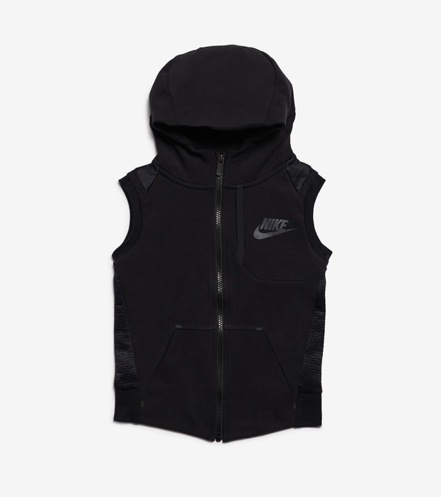 Nike  Boys NSW Tech Fleece Full Zip Vest  Black - 86D221-023 | Jimmy Jazz