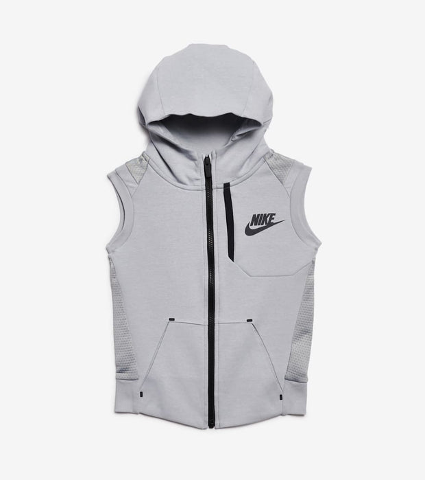 Nike  Boys NSW Tech Fleece Full Zip Vest  Grey - 86D221-174 | Jimmy Jazz