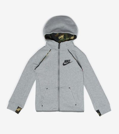 Nike  Boys NSW Tech Fleece Full Zip Hoodie  Grey - 86F287-042 | Jimmy Jazz