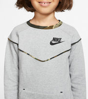 Nike  Boys Nike Tech Fleece Crew  Grey - 86F288-042 | Jimmy Jazz